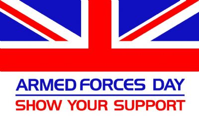 ARMED FORCES DAY- MINI FLAG 22.5cm x 15cm